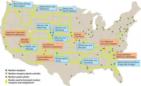 Nuclear Locations U.S.