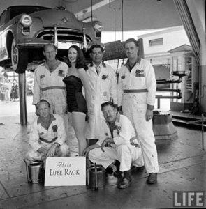 Miss Lube Rack 1955